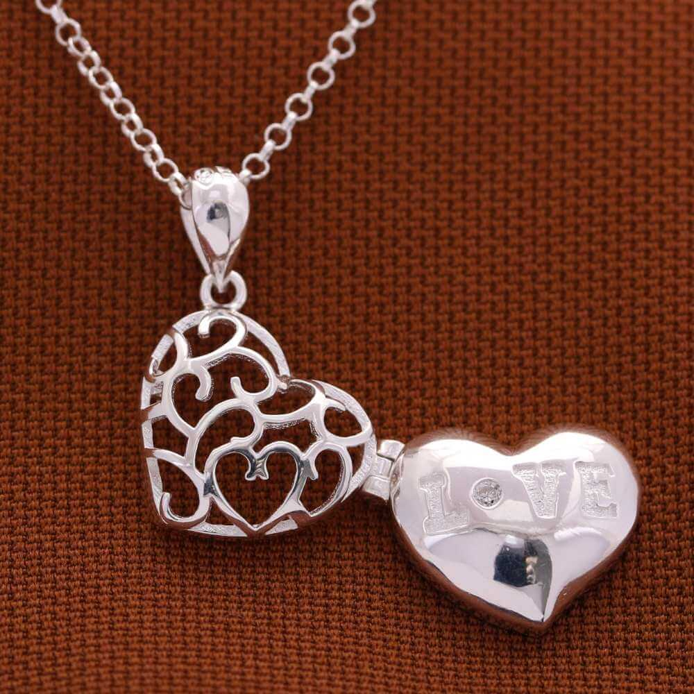 Love Locket 925 Sterling Silver Necklace by Argento
