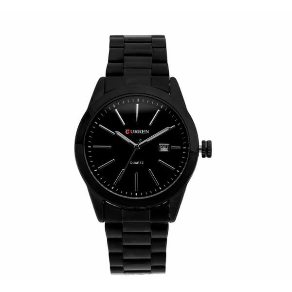 Connor Black Stainless Steel Watch by Curren