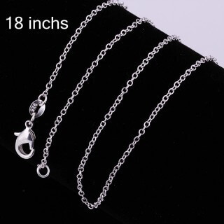 Rolo Chain 18 (Silver Plated)