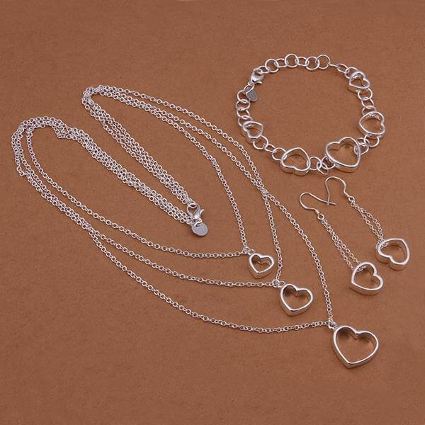 Maggie Cross Set (Silver Plated)