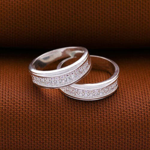 Forever & Ever 925 Silver Couple Ring by Argento