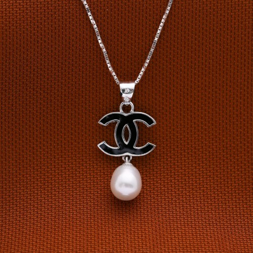 Minerva with Pearl 925 Sterling Silver Necklace by Argento